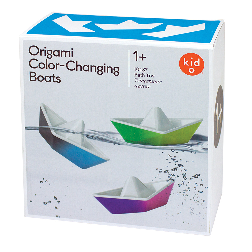 Color Changing Origami Bath Boats