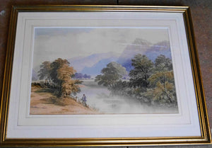 'On the Conwy, North Wales' Signed Original Watercolour Painting by H Hill - 23.5cm x 36cm