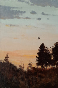 'Twilight Woodcock' - Original Oil Painting by Alistair Makinson - 26 x 16cm