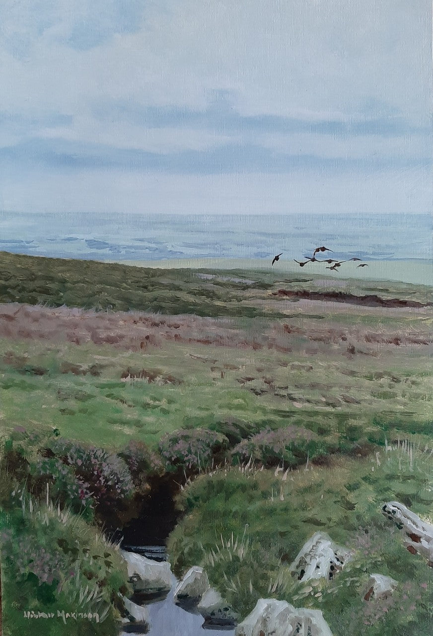 'Mallowdale Grouse' - Original Oil Painting by Alistair Makinson - 20 x 30cm