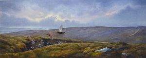 'Autumn Grouse' - Original Watercolour Painting by Owen Williams - 22 x 55cm