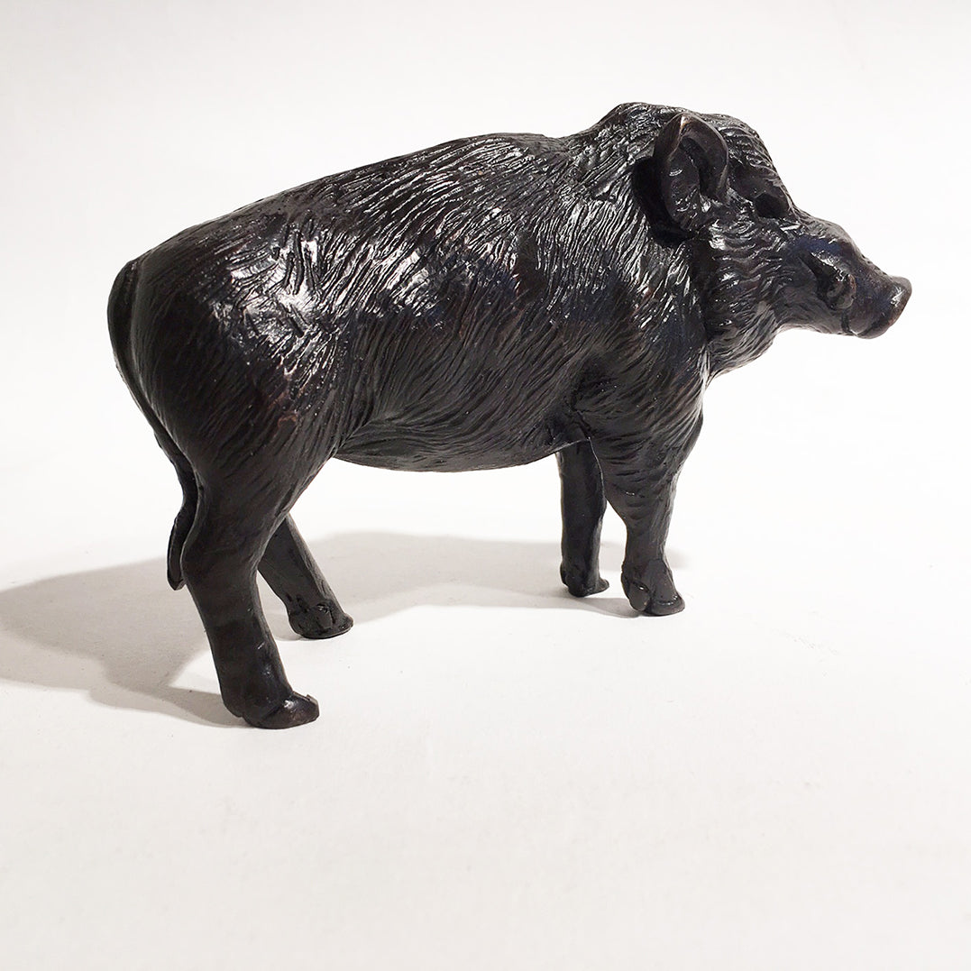 'Boar Standing' - Bronze Open Edition Sculpture by David Cemmick