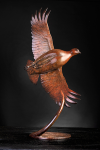 'Flushing Partridge III' Limited Edition Bronze Sculpture by Ian Greensitt