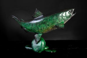 'Brown Trout V' Limited Edition Bronze Sculpture by Ian Greensitt