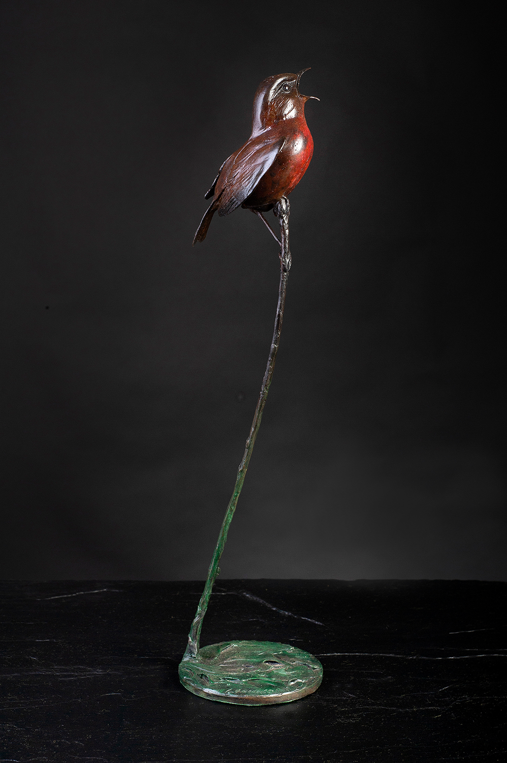 'Robin' Limited Edition Bronze Sculpture by Ian Greensitt