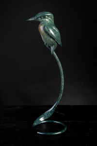 'Kingfisher 2019' Limited Edition Bronze Sculpture by Ian Greensitt