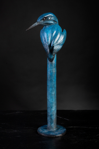 'Kingfisher Blue' Limited Edition Bronze Sculpture by Ian Greensitt