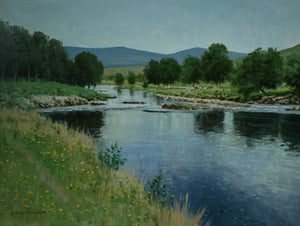 'River Hemsdale' - Original Oil Painting by Alistair Makinson - 30 x 40cm