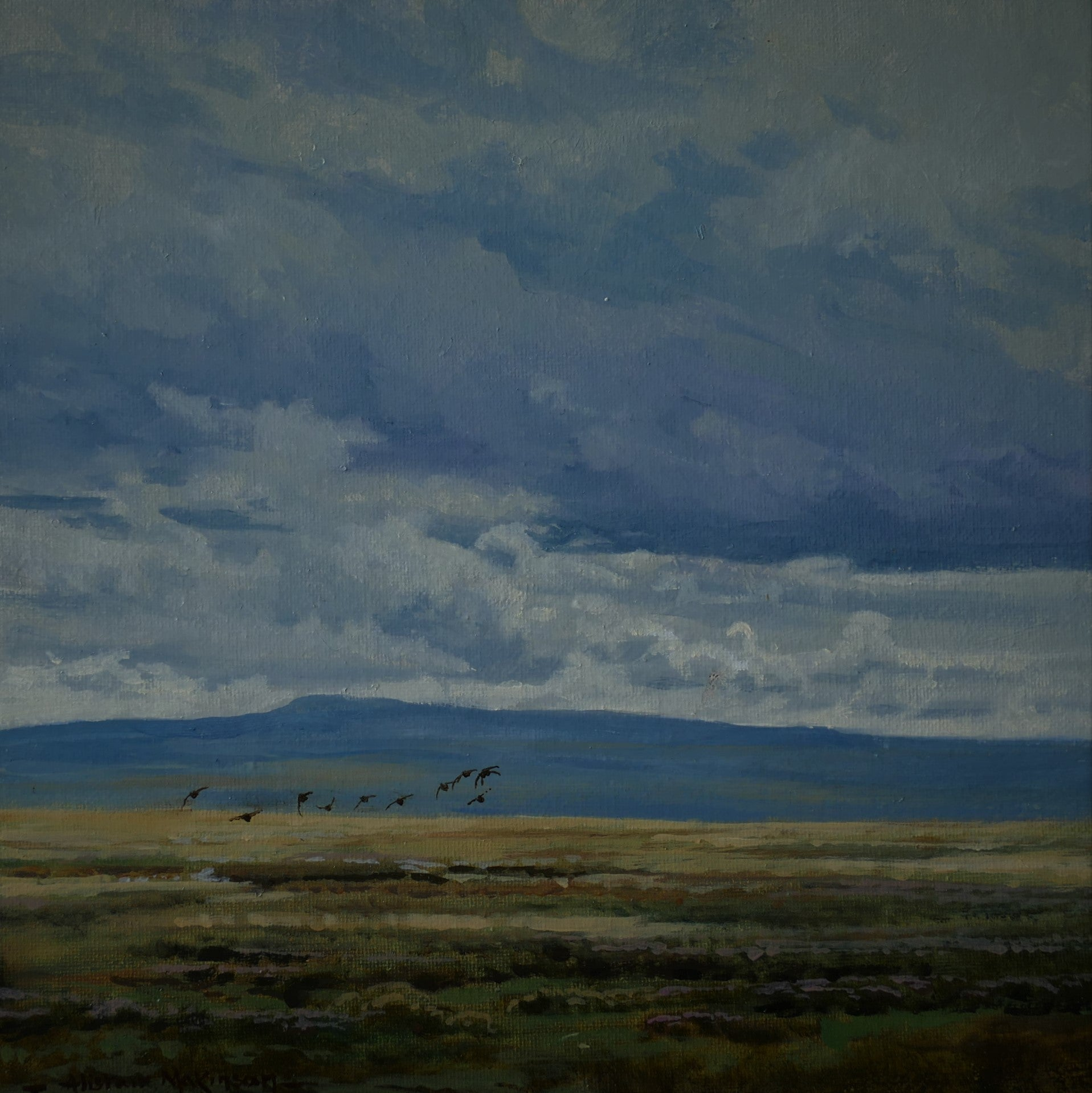 'Stormy Skies' - Original Oil Painting by Alistair Makinson - 20 x 20cm