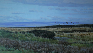 'Yorkshire Grouse' - Original Oil Painting by Alistair Makinson - 24 x 42cm