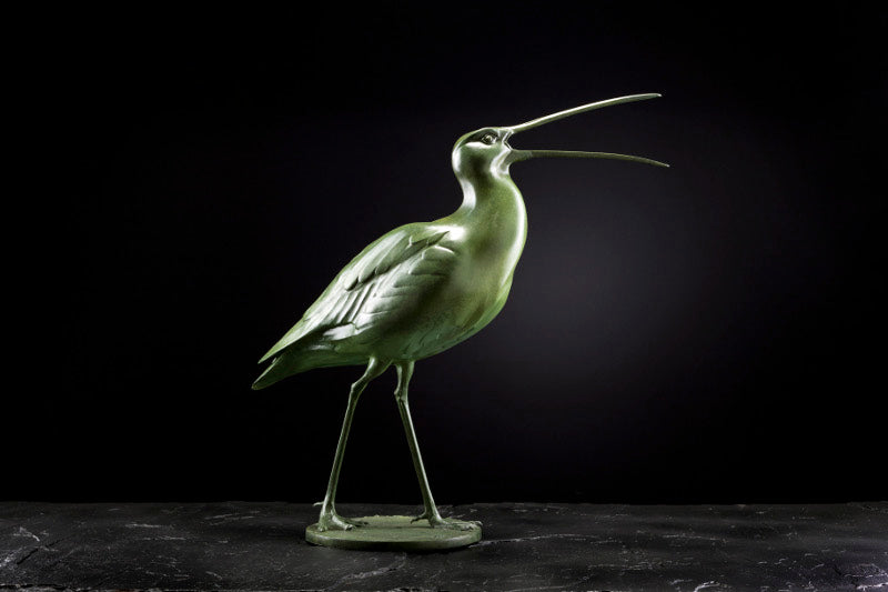 'Curlew Calling' Limited Edition Bronze Sculpture by Ian Greensitt