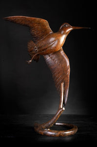 'Flushing Woodcock III' - Limited Edition Bronze sculture by Ian Greensitt