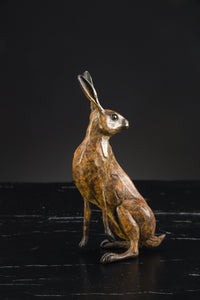 'Hare Study III' Limited Edition Bronze Sculpture by Ian Greensitt