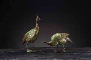'Guinea Fowl Set' Limited Edition Bronze Sculpture by Ian Greensitt