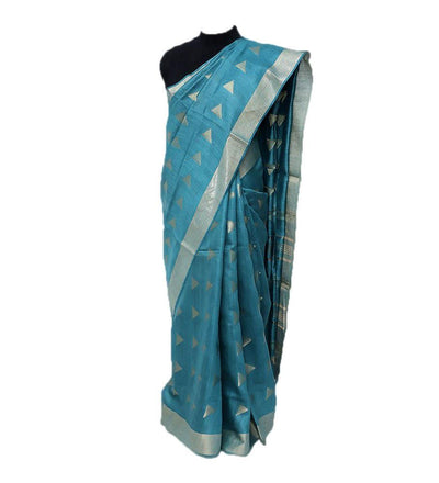 Green Pure Muga Silk Handwoven Saree | 22162101