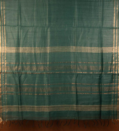 Green Pure Muga Silk Handwoven Saree | 22164101