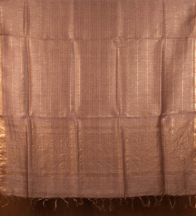 Bronze Pure Silk Linen Handwoven Saree | 22178101