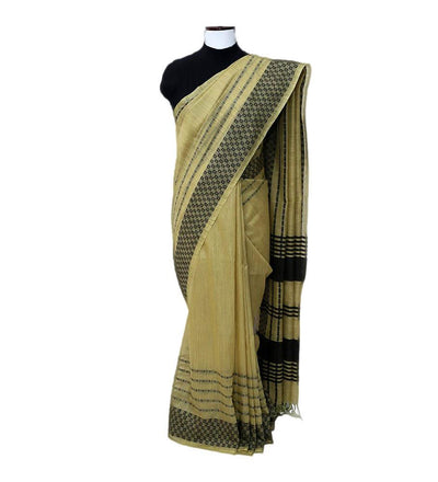 Green Plantain  Cotton Handwoven Saree | 22181101