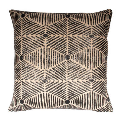 Printed Beadwork Cotton Knife edge Pillow cover Front-Print,Back-Cotton | 23001