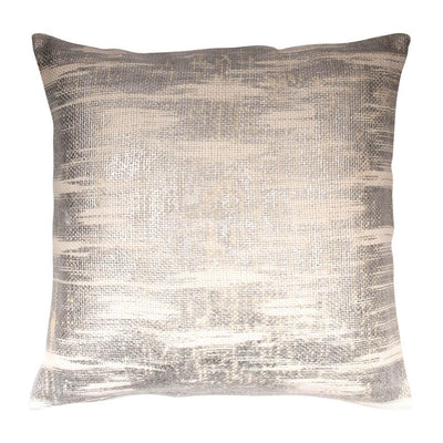 Metallic Printed Cotton Viscose Knife edge Pillow cover Front-Print,Back-Cotton | 23042