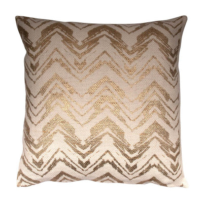 Metallic Printed Cotton Viscose Knife edge Pillow cover Front-Print,Back-Cotton | 23045