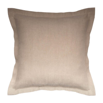 Natural Linen Flanged Pillow cover Front+Back-Linen | 23049
