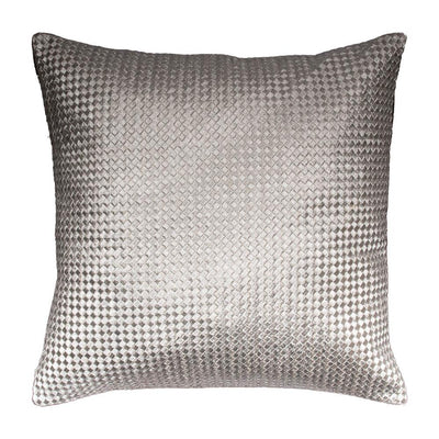 Metallic Embroidered Cotton Knife edge Pillow cover  | 23063