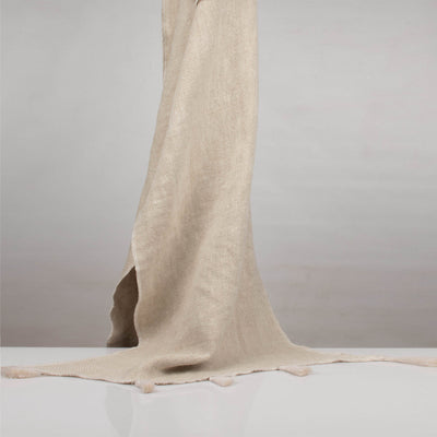 Stone washed Natural Heavy Linen Throw | 23066