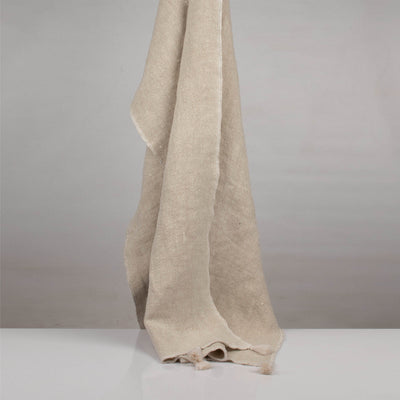 Stone washed Natural Heavy Linen Throw | 23067