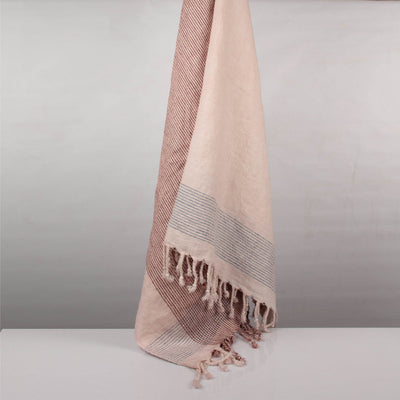 Stone washed yarn dyed  Linen Throw | 23071