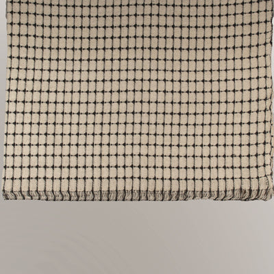 Black White Plaids Cotton Throw | 23079