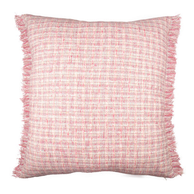 Tweed Silk Viscose Frayed edge Pillow cover Front+Back-Silk Tweed | 23094