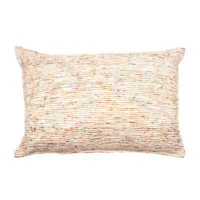 Tussar Wild Silk Pillow cover Front+Back-Cotton Silk Viscose | 23217