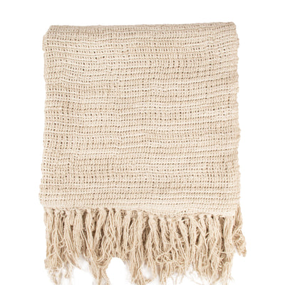 Stone washed Natural Heavy Linen Throw Throw | 23242