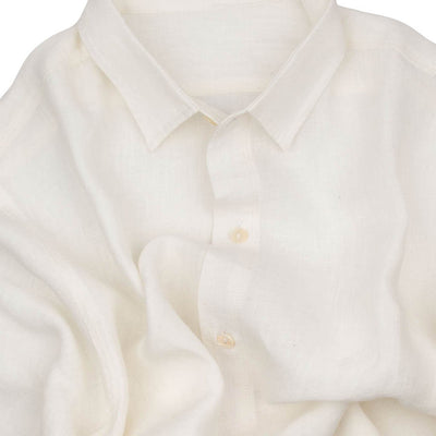 White Washed  Linen Half Sleeves Shirt | 31002101