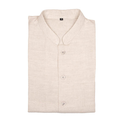 Natural Fine Linen Cotton Nehru Jacket | 31013101