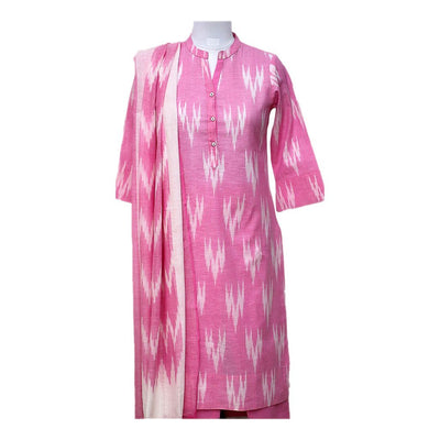 Pink Ikat Cotton Kurta Set | 31022101