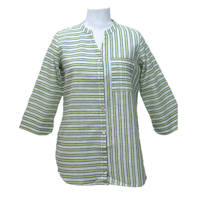 Green  Linen Cotton Top | 31027101