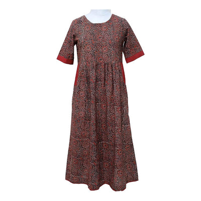 Red Long Cotton Dress | 31033101
