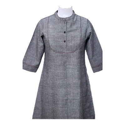 Grey  Linen Cotton Tunic | 31035101