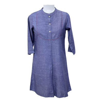 Blue  Cotton Tunic | 31035103