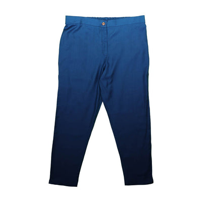 Blue  Silk Viscose Pants | 31039101