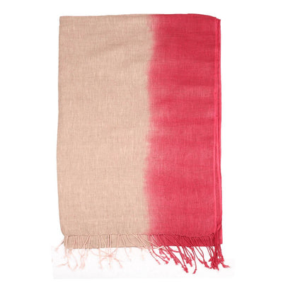 Pink Hand Ombre Linen Scarf | 41123101