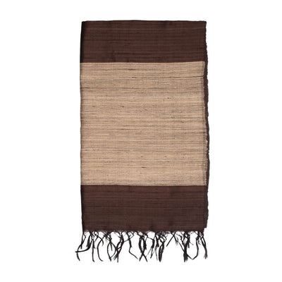 Brown Pure Tussar Dupion Silk Dupatta | 41136105