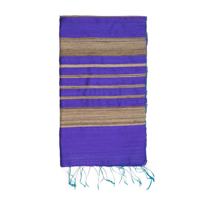 Purple Pure Tussar Dupion Silk Scarf | 41137102