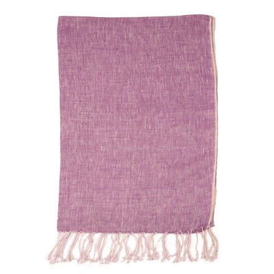 Purple Plain weave Linen Scarf | 42089104
