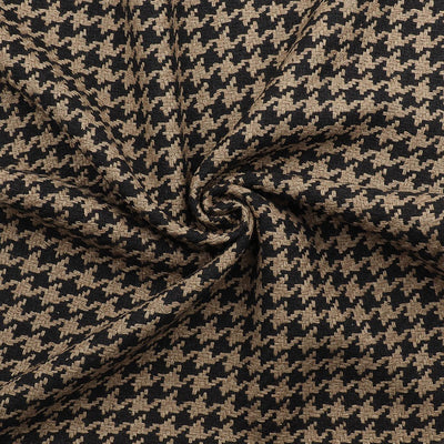 Houndstooth Weave Silk blended Fabric | 6910