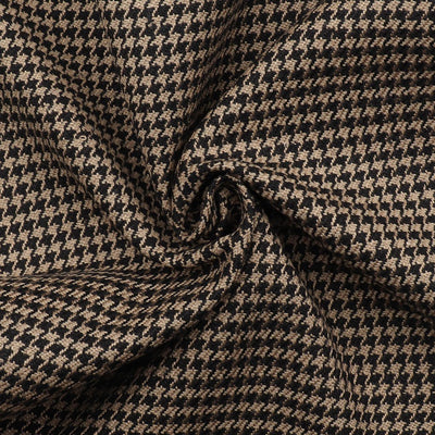 Houndstooth Weave Silk Viscose Fabric | 6911