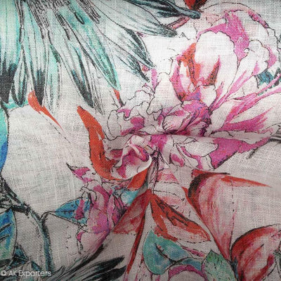 Pure 60s Linen Digital Printed Fabric | 7552