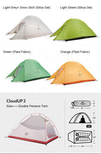 Load image into Gallery viewer, Outdoor Camping Tent Ultralight 1, 2, 3 Person With Free Floor Mat